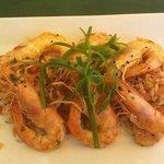 Crevettes sauce ouzo