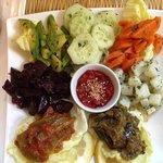 Moroccan salad selection
