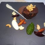 Beef with chocolate sauce