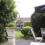 View towards the pub from a secluded part of the garden