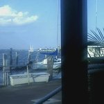 View of the bay from the back outside dining area