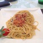 Spaghetti ai ricci di mare. Lovely....