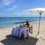A private breakfast on the beach after a morning massage!