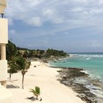 This is a view of the beautiful private beach from our room's balcony
