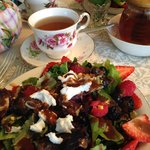 Kyoto Cherry Rose Tea and Berry Salad