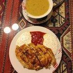 Sopa de Lentejs y Borek