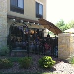 Patio off of breakfast area/includes complimentary gas grill for guest use