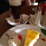 Irish coffee and cheese cake! Yum x