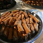 Mother's Day Brunch buffet. Cannolis. Tiny. Good.