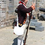 Lesson in firing a musket
