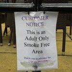 Adult no smoking area but no child no smoking area