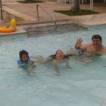 Having fun in the kiddie pool