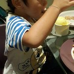 my son eating ice-cream