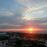 Sunset from room balcony... Oia in the background