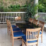 Balcony with sitting area. Great place to have your afternoon coffee