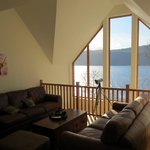 Mezzanine sitting room overlooking Loch Ness