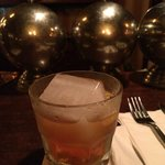 Vieux Carre with the biggest ever ice cube!