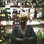 Judith at the well stocked bar