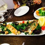 Lovely mixed seafood grill