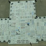 Comedy Carpet as seen from the top of Blackpool Tower