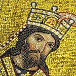 King Roger II crowned; detail of Martorana mosaics