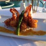 Beach club coconut shrimp dinner