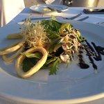 beach club calamari salad dinner