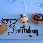 beach club birthday dessert