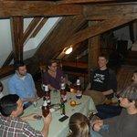 Family evening in attic suite