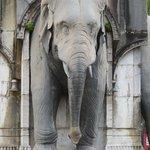 Particolare della Fontana degli Elefanti