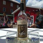My favorite wine, Tears of Gettysburg, on the front deck of the winery.