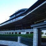 The grandstands from below.