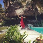 Flamenco dancer while they served paella and sangria for lunch!
