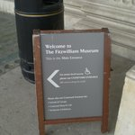 Sign in front of the Fitzwilliam Museum