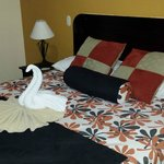Sculpted Swan towel