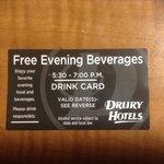 tarjeta control tragos con alcohol