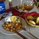 Excelente y delicioso filete relleno de mariscos