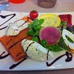 Balade estivale, légumes bariolés et fromage frais