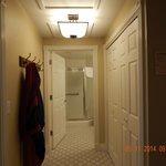 Entry way, laundry on right, master bath straight ahead