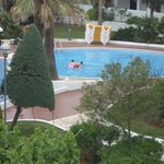 1 of the out door pools and view from balcony