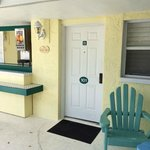 Front door to room 101. Buffet bar area to left of image