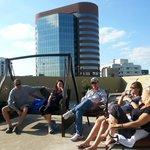 Sixth floor rooftop patio