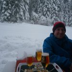 Bar on the red run leading to hotel - nice place to stop