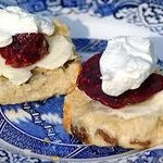 Freshly baked Buttermilk Scones with Sugarshack Jam and Cream