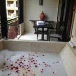 Bath on the balconny