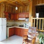 Superior Cabin #16 kitchen area