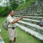 John teaching us about Mayan history at the Xunantunich Mayan Ruins