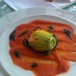 Stuffed zucchini flower