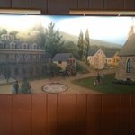 Just one of many amazing paintings and murals at the Historic Inn