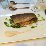 Pan-fried sea bass. Delicious!